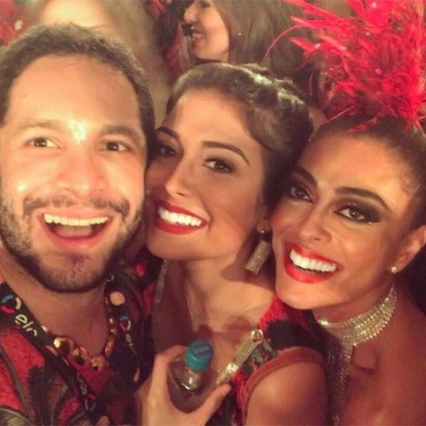 Rainer Cadete, Letícia Almeida e Juliana Paes (Foto: Reprodução/Instagram)