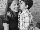Grávida, Nívea Stelmann ganha carinho de filho: 'Amor de irmãos'