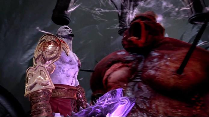 Kratos enfrenta Hades utilizando as próprias armas do deus do submundo (Foto: Reprodução/YouTube)