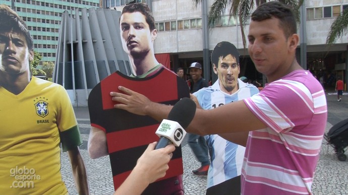 Torcedores cariocas escolhem reforço entre Neymar, Cristiano Ronaldo e Messi (Foto: Pedro Veríssimo)