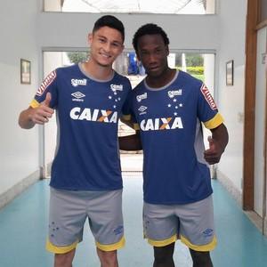Diogo Barbosa e Caicedo, novos reforços do Cruzeiro (Foto: Divulgação Cruzeiro)