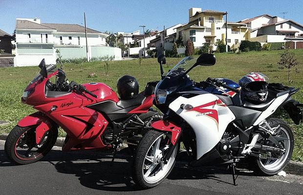 Honda CBR 250R x Kawasaki Ninja (Foto: Autoesporte)