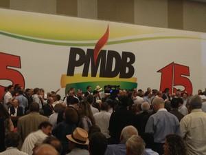 Convenção do PMDB (Foto: Mariana Oliveira/G1)