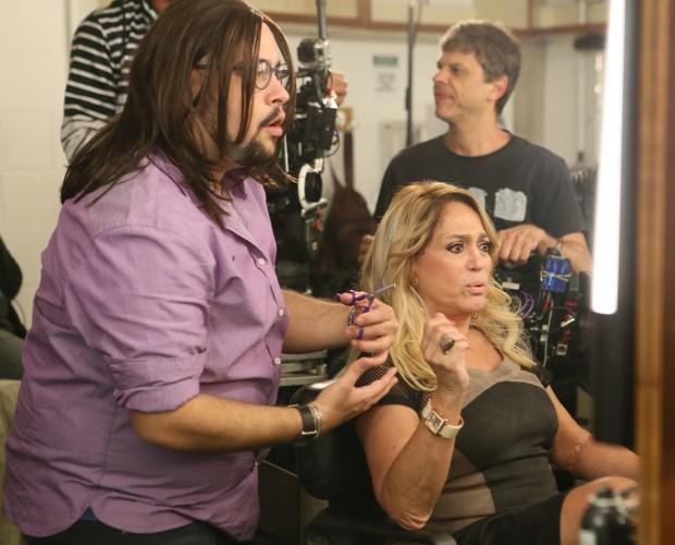 Susana Vieira faz participação especial no seriado (Foto: Isabella Pinheiro/Gshow)