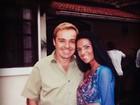 Solange Gomes abre o baú de fotos e mostra imagem antiga com Gugu
