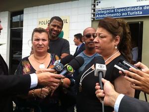Solange Cruz e Angelina Basílio falam sobre reunião em SP (Foto: Nathália Duarte/G1)