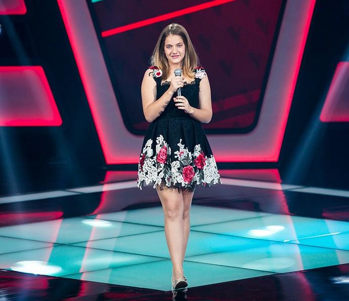 Tábatha Almeida é aprovada no The Voice Kids (Foto: Isabella Pinheiro/Gshow)