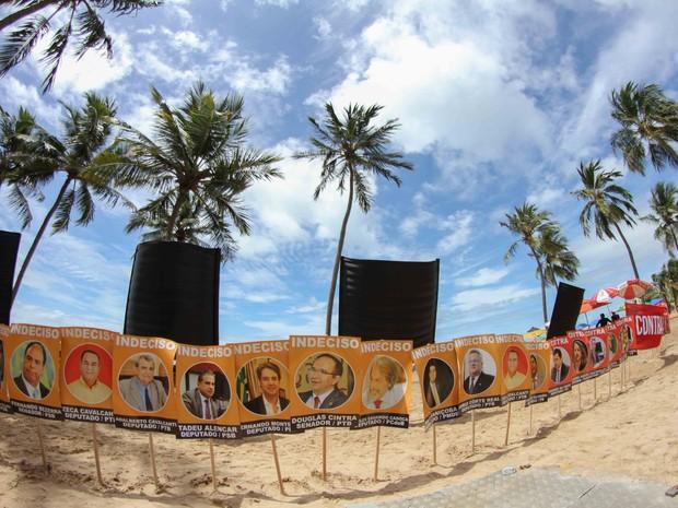 Ato enterra na areia políticos de PE indecisos e contra o impeachment (Foto: Aldo Carneiro/Pernambuco Press)