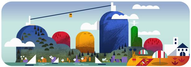 6-doodle-google-100-aniversario-bondinho-pao-de-acucar-rio-de-janeiro (Foto: Reprodução/Google)