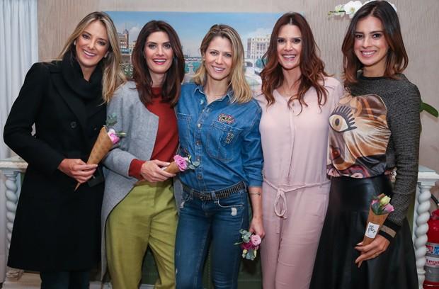 Ticiane Pinheiro, Isabella Fiorentino, Didi Wagner, Mariana Kupfer e Vera Viel (Foto: Manuela Scarpa/Brazil News)