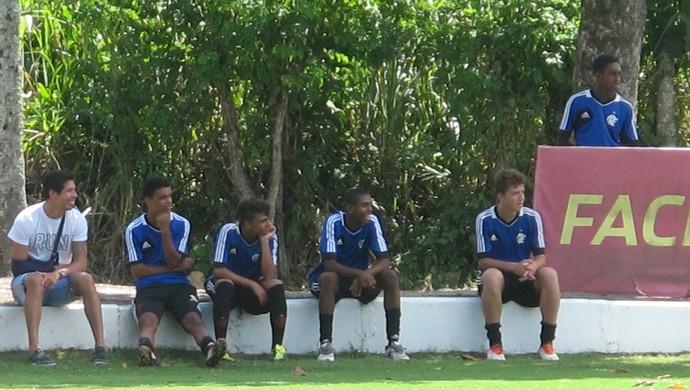 Caceres treino Flamengo (Foto: Thales Soares)