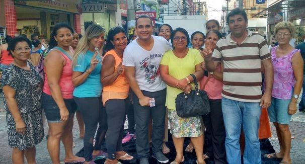 Menilson Filho participa de gravação no centro de Aracaju (Foto: Divulgação / TV Sergipe)