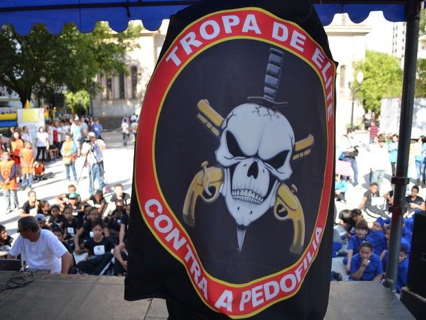 Mrcha contra pedofilia reuniu crianças em Piracicaba (Foto: Thomaz Fernandes/G1)