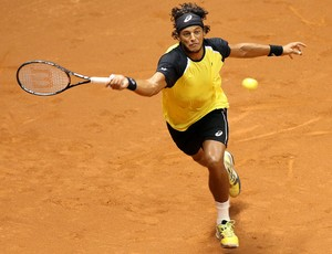 Feijão estreou no Brasil Open diante de Montañes (Foto: Gaspar Nóbrega/Inovafoto)