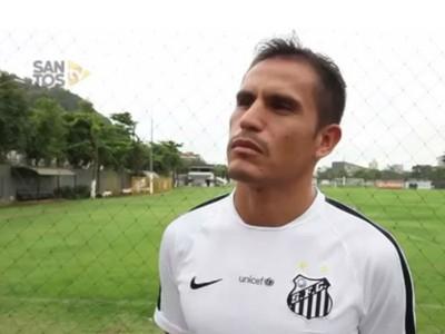 Ledesma chega ao Santos (Foto: reprodução/vídeo Santos TV)