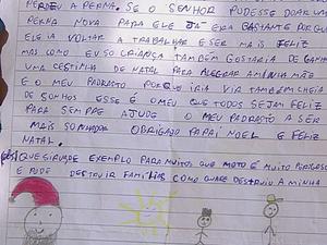 Menino comoveu professores em carta escrita ao Papai Noel (Foto: Reprodução/TV TEM)