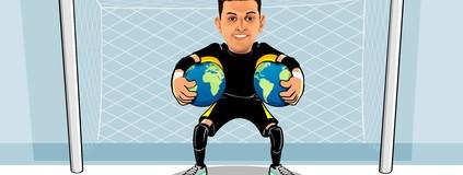 As duas conquistas mundiais  do goleiro Luan, do Sorocaba Futsal (Clayton Esteves / TV TEM )