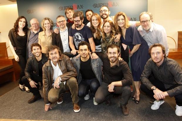 Coletiva de imprensa da série Super Max (Foto: Marcos Ferreira / Brazil news)