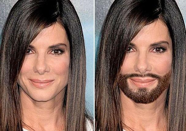 Será que o filhinho de Sandra Bullock iria estranhar? (Foto: Reprodução)