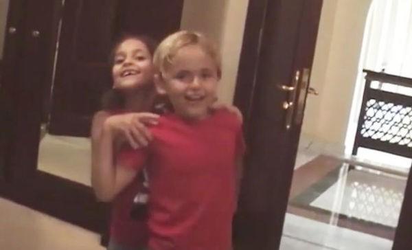 Paris Jackson e Prince Jackson brincando em um vídeo antigo gravado pelo pai dos dois, o cantor Michael Jackson (Foto: Instagram)