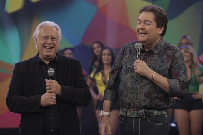 Antonio Fagundes participa do 'Eu Acho', do 'Domingão do Faustão' (Foto: Inácio Moraes/Gshow)
