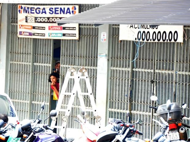 Assalto lotérica (Foto: Eduardo Duarte/Arquivo pessoal)