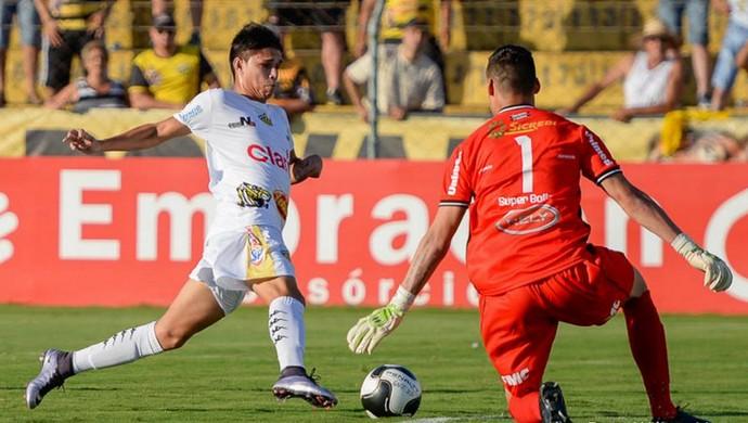 Luiz Araújo, atacante, Novorizontino (Foto: Wiliam Lima / Grêmio Novorizontino)