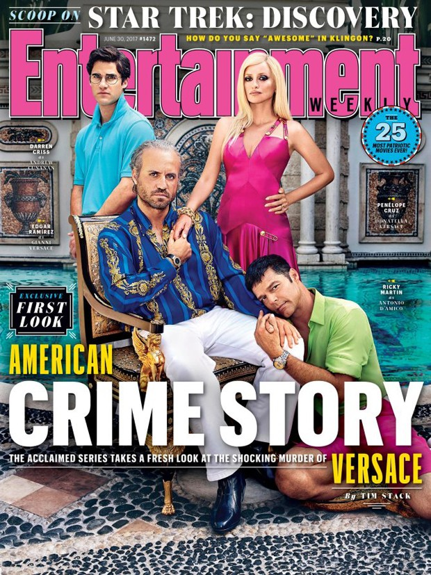 Darren Criss, Edgar Ramirez, Penelope Cruz e Ricky Martin (Foto: Reprodução/Entertainment Weekly)
