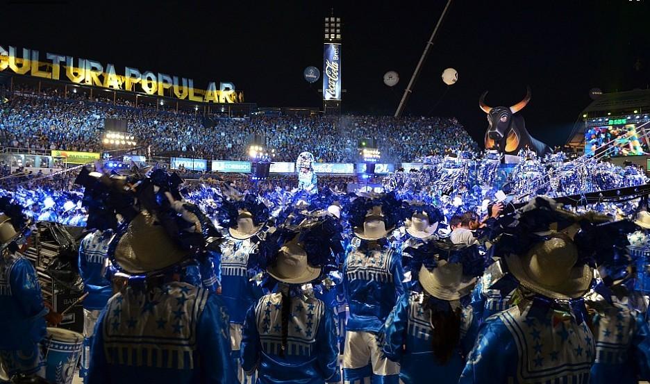 Caravana Azulada vai levar brincantes para gravação do DVD e BLURAY do Caprichoso (Foto: Frank Cunha/G1 AM)