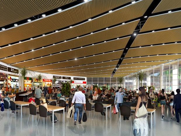 6267b114ecf Praça de alimentação será climatizada e terá capacidade para mais de 500  lugares (Foto
