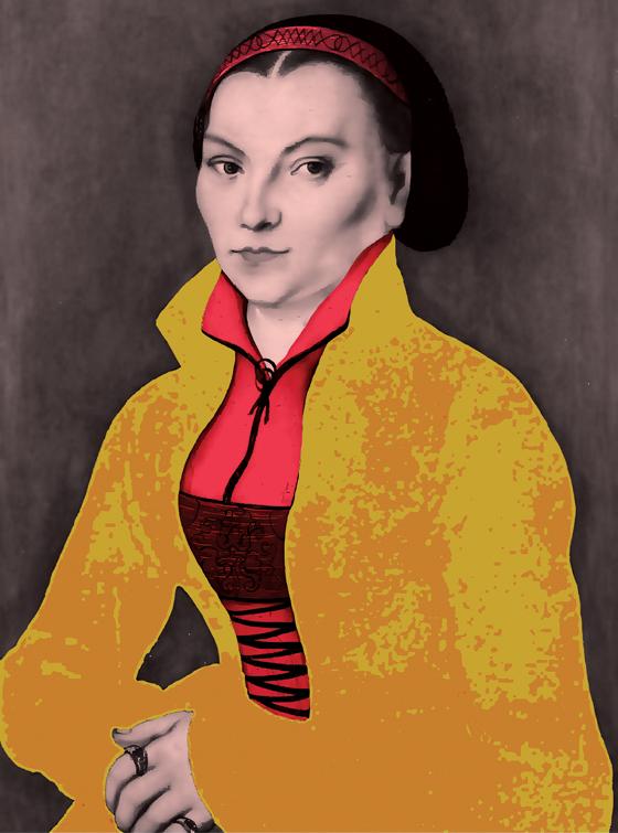 Catarina Von Bora (Foto: Pintura de Lucas Cranach sobre Intervenção de Cristina Kashima )