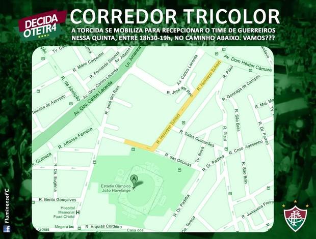 corredor tricolor (Foto: Reprodução / Facebook FluminenseFC)