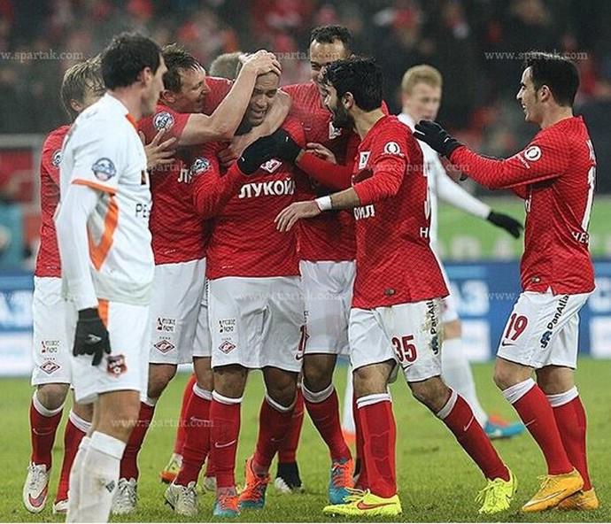 Rômulo comemora gol no Spartak Moscou após sequência de lesões graves (Foto: Arquivo Pessoal / Rômulo)