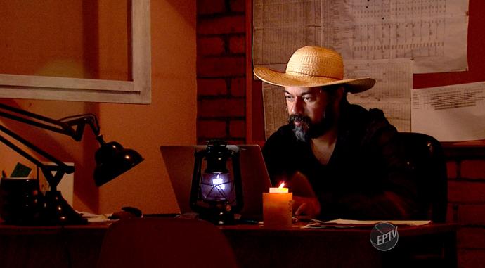 O David Ralitera substituiu sua vida urbana pela tranqulidade do campo (Foto: reprodução EPTV)
