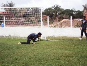 Jean durante treinamentos no Sampaio Corrêa (Foto: Afonso Diniz/Globoesporte.com)