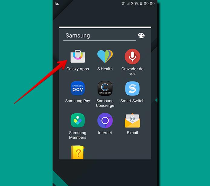 Abra o Galaxy Apps para alterar as configurações de atualização (Foto: Reprodução/Filipe Garrett)