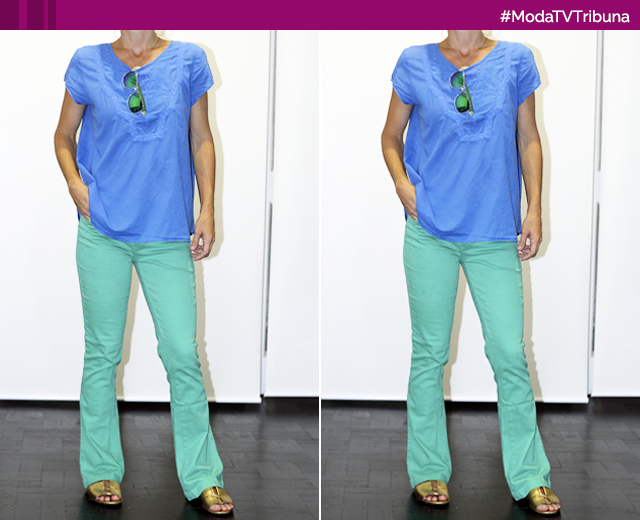 Azul e verde é a sugestão para looks com cores análogas (Foto: Arquivo Pessoal/Patricia Simão)