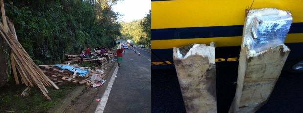 Droga e contrabando foram saqueados pelos índios  (Foto: Radiodifusão Campo Aberto e Priscila Luparelli / RPC TV)