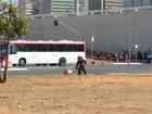 Suposta bomba em mala isola parte da rodoviária e Eixo Monumental; veja