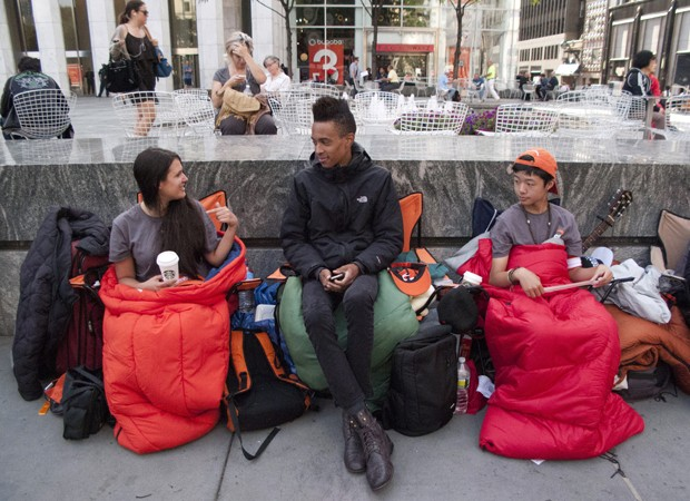 Fila para comprar o iPhone 5 (Foto: Don Emmert/AFP)