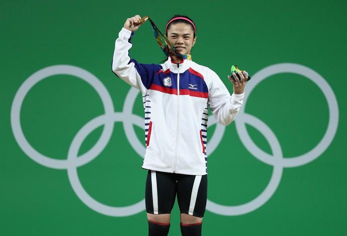 Shu-Ching Hsu ouro levantamento de peso Rio 2016 53kg (Foto: Getty Images)