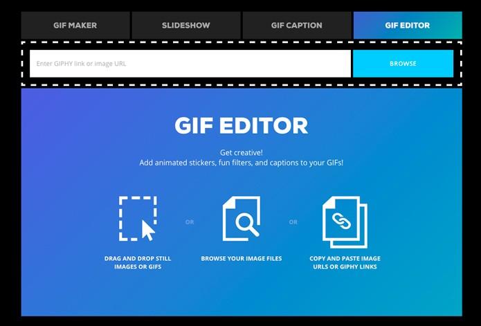 Acesse o editor de gif do Giphy (Foto: Reprodução/André Sugai)