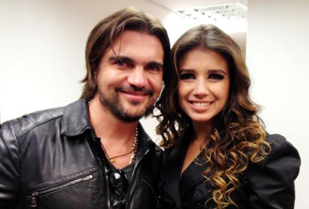 Juanes e Paula Fernandes (Foto: Reprodução/ Twitter)