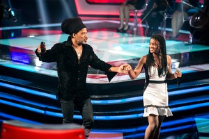 Malu Cavalcanti e Carlinhos Brown The Voice Kids (Foto: Isabella Pinheiro/Gshow)
