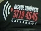 Disque-Denúncia paga R$ 2 mil por pista (Reprodução/ TV Asa Branca)