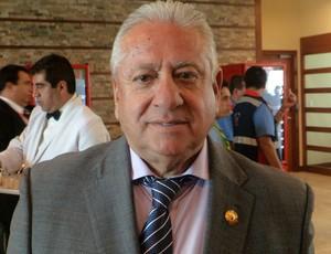 Tour da taça - equador - Luís Chiriboga, presidente da federação equatoriana de futebol (Foto: Cassius Leitão)