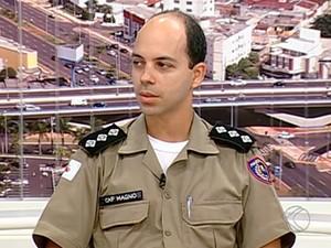 Capitão fala sobre crimes violentos em Araguari (Foto: TV Integração/Divulgação)