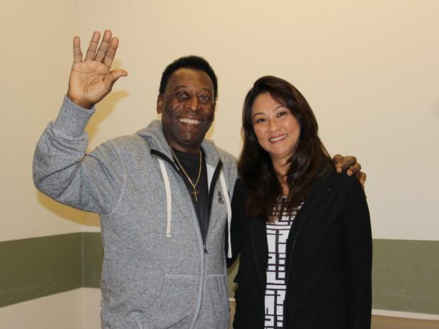 Pelé recebe alta de hospital em SP (Foto: Divulgação)