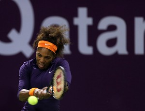 Serena Williams tênis Doha (Foto: AP)