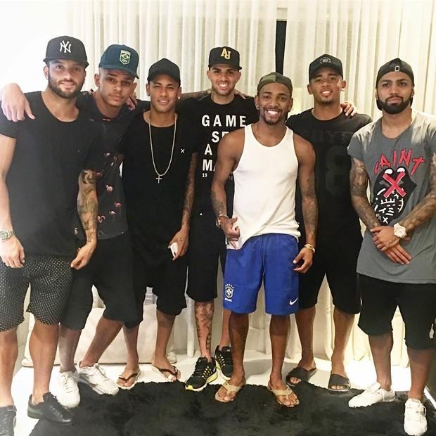 Nego do Borel recebe Neymar e amigos em casa (Foto: Instagram / Reprodução)